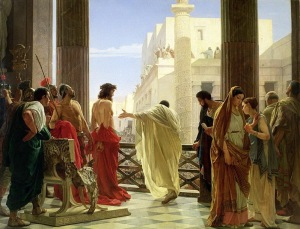 Pontius Pilate with his Prisoner - Antonio Ciseri