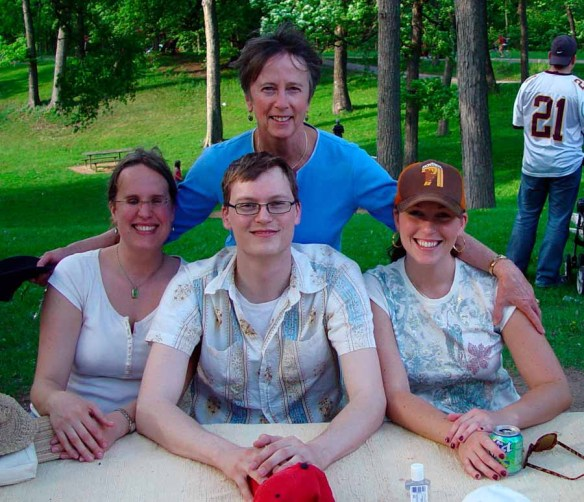 Kay and her brood -Katie, Andrew, and Kristin
