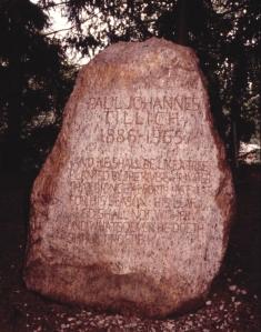 Paul JohannesTillich's gravestone in the Paul TillichPark, New Harmony, Indiana