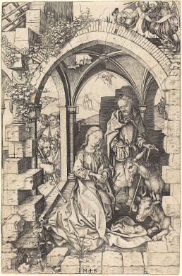 The Nativity, Martin Schongauer,  c. 1470/1475, National Gallery Collection