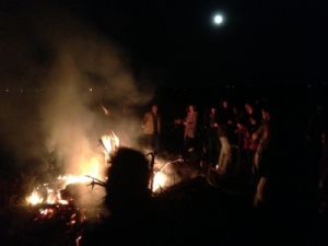 Univ. of Illinois Campus YMCA bonfire