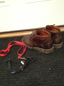 boots by front door