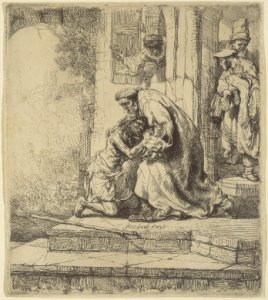 Prodigal Son Rembrandt drawing