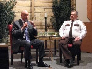 Scott night (l with Sheriff Olson