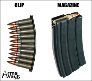 gun clip and magazine
