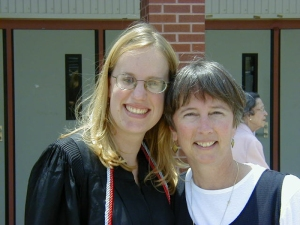 Katie and Kay (Mom) at Katie's graduation.