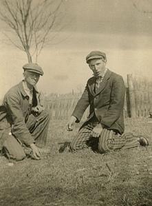 Mumblety-peg players