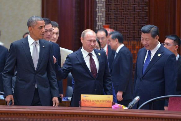 """Obama: """"Get your planes off our border!."""" Putin: """"Try and stop us, Black Boy!"""""""