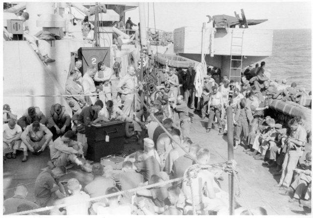 My father, the Chaplain, on board ship to Saipan, WW!!.