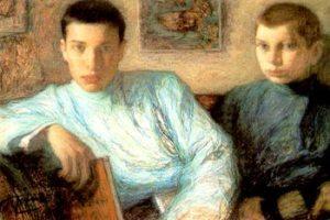 Leonid Pasternak painting of his sons Boris and Alex
