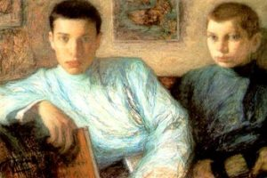 Leonid Pasternak painting of his sons Boris and Alex
