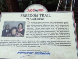 Freedom trail plaque
