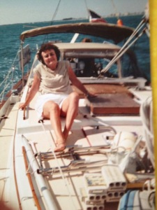 Joan Copeland on suitor's yacht sailing illegally to Cuba.