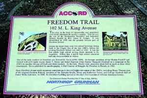 Example of ACCORD Freedom Trail plaques