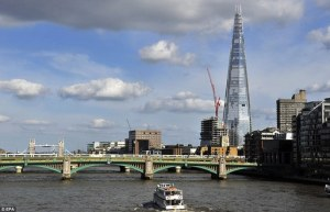Photo of Europe's tallest building, The Shard, Lorenzo Piano, architect
