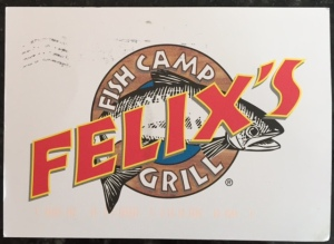 Felix's Fish Camp Grill postcard