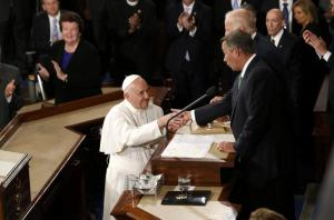 Pope Francis and John Boehner - Joint Session of Congress