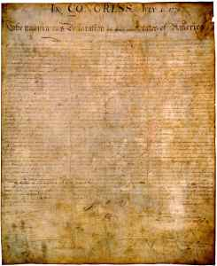 Original American Declaration of Independence