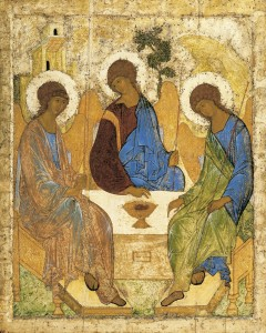 Angels at Mamre Trinity, Rublev