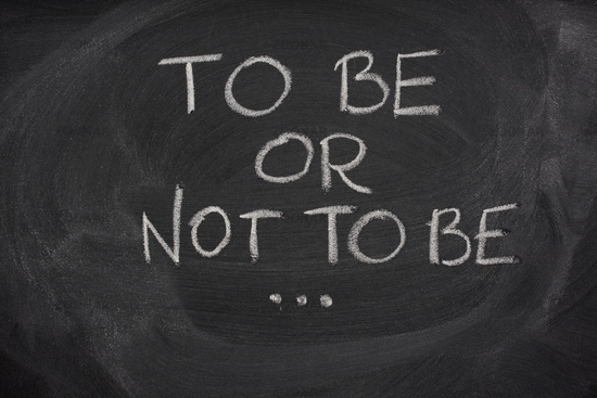 THE QUESTION – to be or not to be? | Views from the Edge