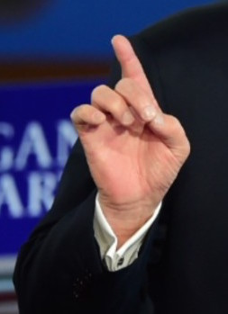 President Trump's hand pointing
