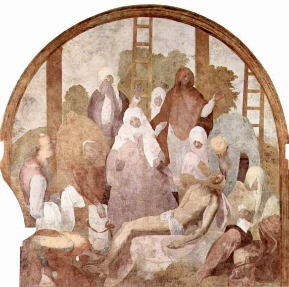 Pontormo, Jacopo da, 1494-1556. Descent from the Cross,