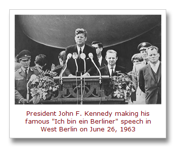 President Kennedy in Berlin, June 26, 1963[10]