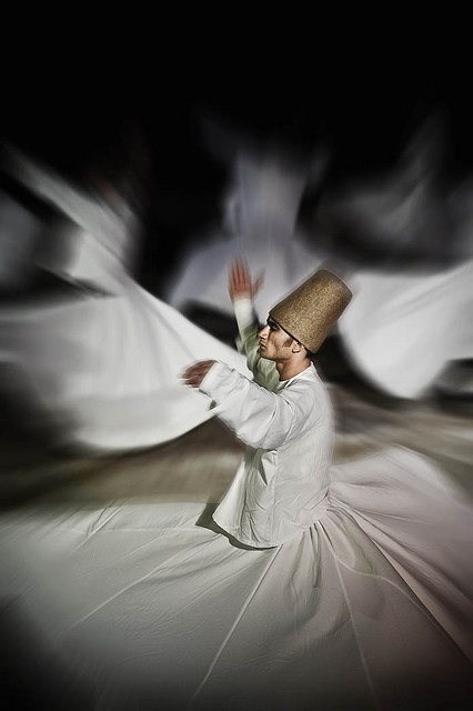 A dervish performs the Sema Ceremony