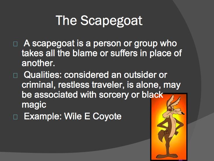 scapegoat propaganda examples