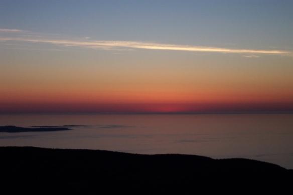 pre-sunrise glow