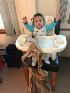 Elijah in high chair