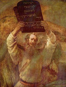Rembrandt Moses and Commandments