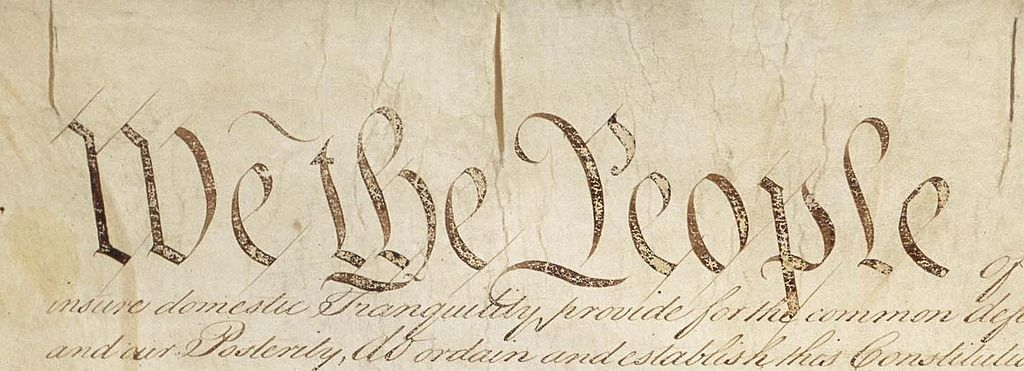 "Image ""We the People"" from original U.S. Constitution"