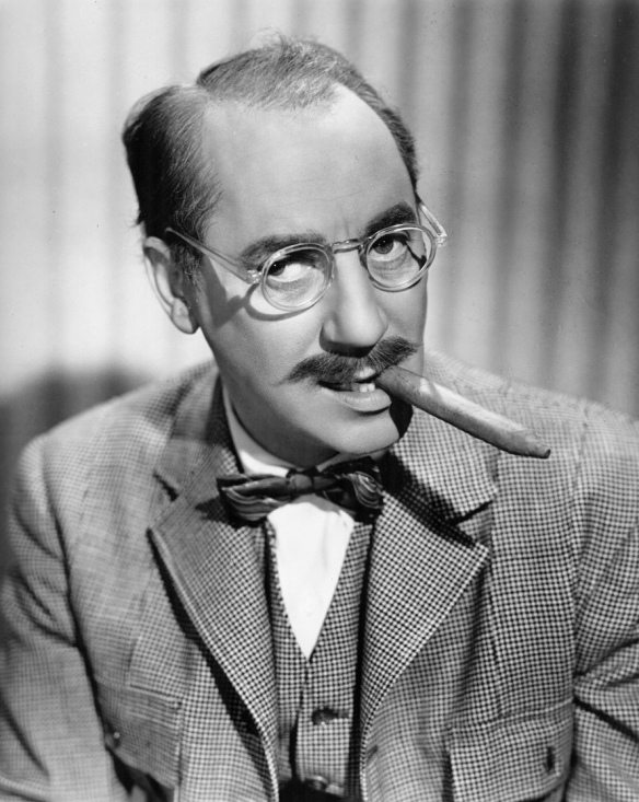 photo of Groucho Marx, host of You  Bet Your Life