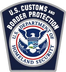image 0f U.S. Department of Homeland Security Customs and Border Patrol logo