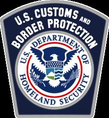 image 0f U.S. Department of Homeland Security Customs and Border Patrol logo