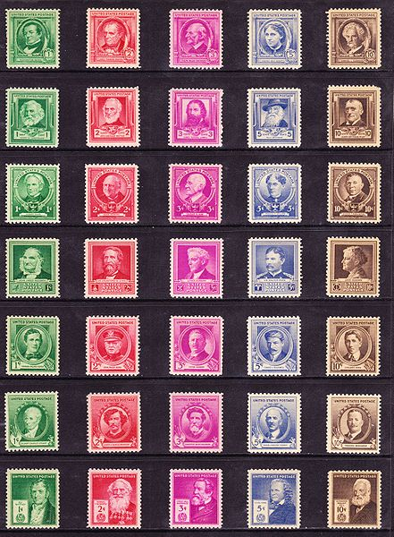 picture of U.S. postage stamps