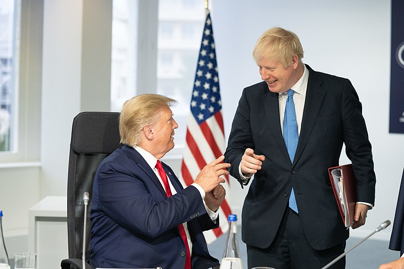 Photograph of Boris Trump and Donald Johnson at 2019 G7 Summit.