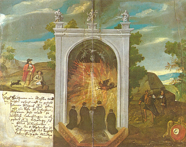 photograph of triptych by Johann Christoph Haizmann