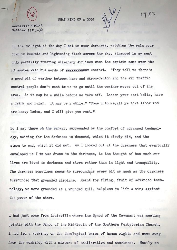 Sermon page 1
