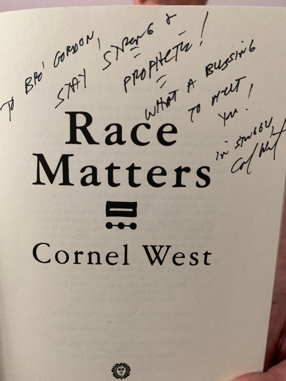 face page of Cornel West's Race Matters