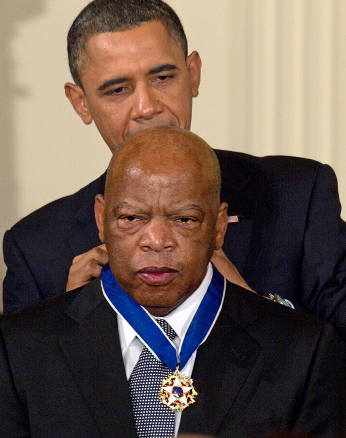 President Barack Obama awarding Presidential Medal of FreedomCongressman John Lewis